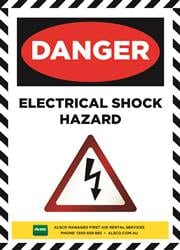 electrical shock safety reminder poster