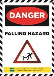 falling hazard safety reminder poster