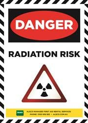 radiation risk safety reminder poster