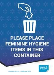 feminine hygiene poster