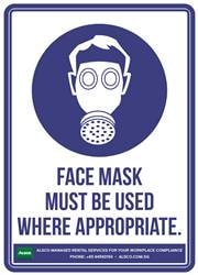 FACE MASK MUST BE USED WHERE APPROPRIATE.