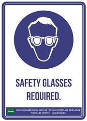 SAFETY GLASSES REQUIRED.