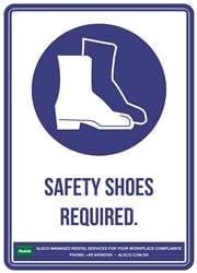 SAFETY SHOES REQUIRED.