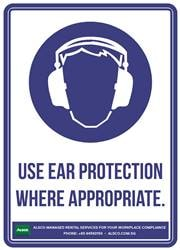 USE EAR PROTECTION WHERE APPROPRIATE.