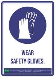 WEAR SAFETY GLOVES.