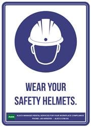 WEAR YOUR SAFETY HELMETS.