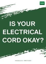 use of electrical cord safety reminder poster