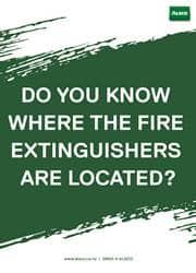 fire extinguisher reminder poster