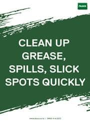 clean up grease safety reminder poster