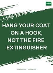 proper way to hang clothes reminder poster