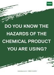 safety message poster use of chemical products
