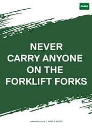 proper use of forklift message poster
