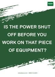 turning off power reminder poster