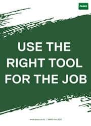 use the right tool reminder poster