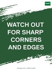 sharps safety message poster