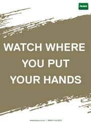 hand safety reminder poster