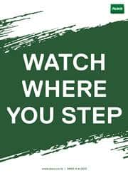 watch your step safety reminder poster