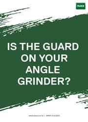 angle grider safety reminder poster