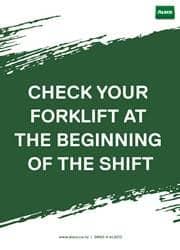 use of forklift safety reminder poster