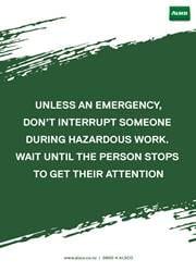 hazardous workplace reminder poster