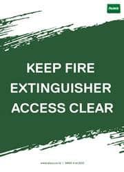 fire extinguisher safety reminder poster