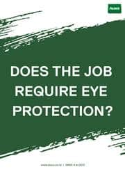 eye protection safety reminder poster