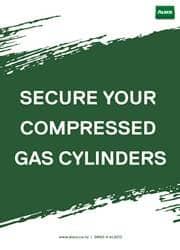 gas cylinder safety reminder poster
