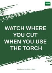 use of torch safety reminder poster
