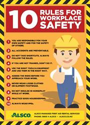 Safety rules workplace safety poster