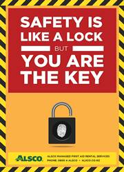 safety lock message poster