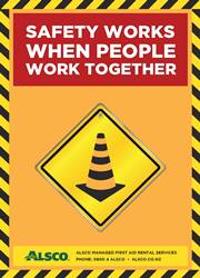 workplace safety message poster