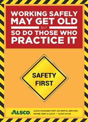 workplace safety reminder poster