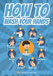 how to wash your hands reminder poster