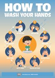 proper hand washing message poster