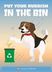 Free poster put your rubbish in the bin