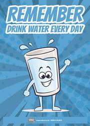 drink water everyday poster - Free