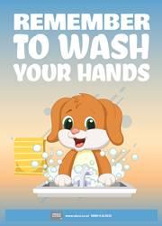 proper hand washing reminder poster
