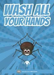 washing of hands reminder poster