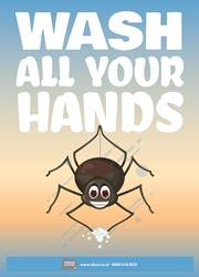 wash all your hands reminder poster for children