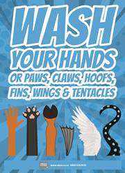 wash your hands reminder poster