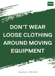 workplace clothing safety reminder poster