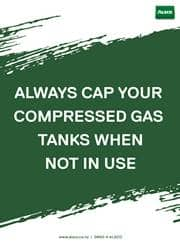 safety use of gas tanks reminder poster