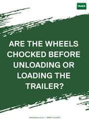 trailer wheels safety reminder poster