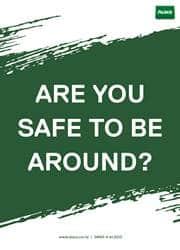 safe reminder poster