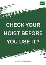 check your hoist reminder poster