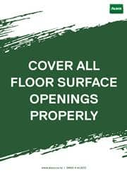 floor safety reminder poster