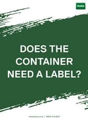 container label reminder poster