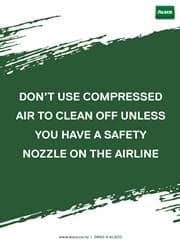 proper use of air compressor message poster