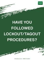 lockout procedure reminder poster