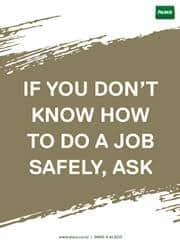 work safety message poster